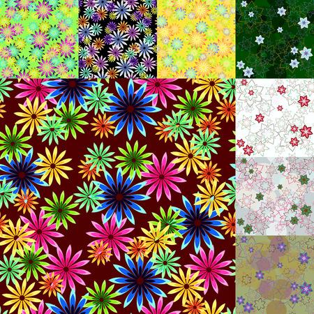 Mooi naadloos bloemenpatroon. Illustraties en vector kunst. Stock Illustratie