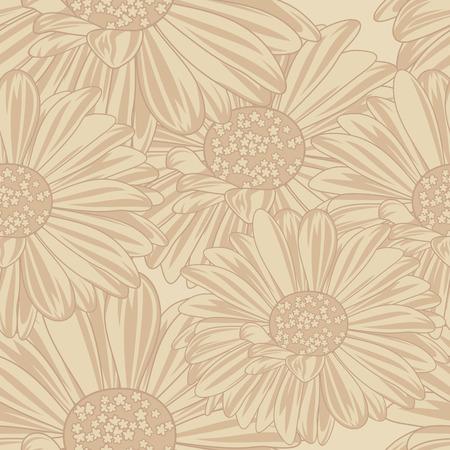 calendula flower: Daisy seamless background.