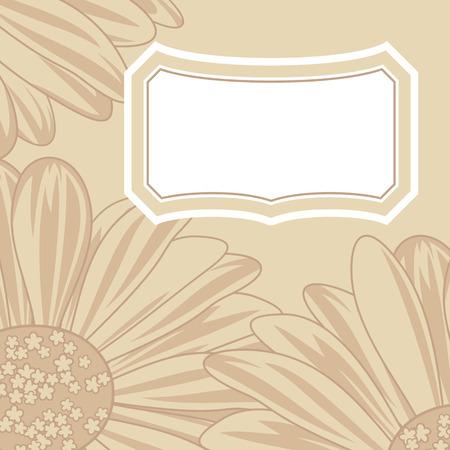 calendula flower: Daisy greeting card.