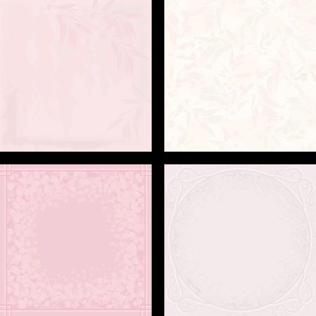 Set van vier roze abstracte patronen en achtergronden. Stock Illustratie