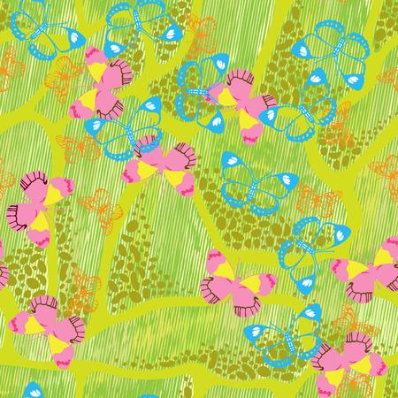 Gekleurde vlinders op een abstracte achtergrond. Vector illustratie.