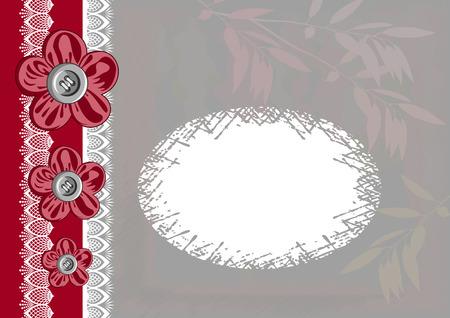 De Briefkaart van de Dag van de Rode en Witte Valentijnskaart. Vector illustratie.
