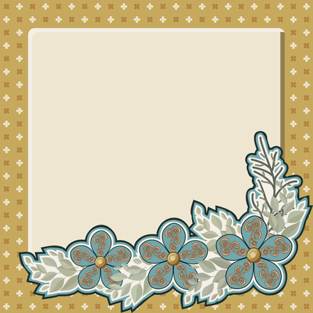 Greeting card with place for text. Vector illustration. Vector