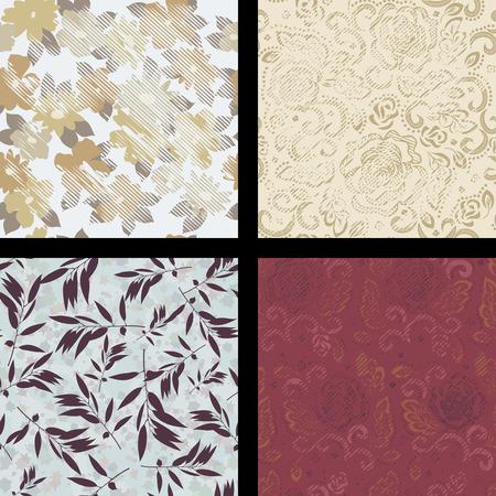 Mooie naadloze abstract patroon. Illustraties en vector kunst. Stock Illustratie