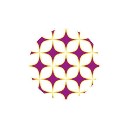 estrellas moradas: Estrellas púrpuras modelo muestra. diseño gráfico de la moda. ilustración vectorial