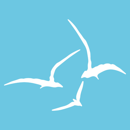 gull: Gull sign pattern. Template for prints, textile, wrapping and decoration, wallpaper. Vector illustration