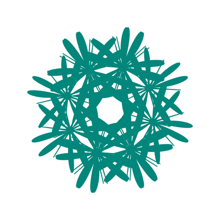 Blue mandala. Abstract geometric sign pattern.Vector mandala. Mandala design. Anti stress mandala. Black mandala Vintage decorative elements. Hand drawn background. Islam, Arabic, Indian, ottoman motifs. Illustration