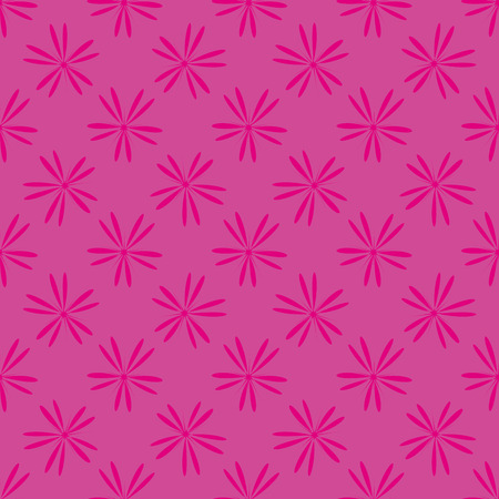 illus: Pink flowers seamless pattern . Fashion natural design background. Template for prints, textile, wrapping and decoration, wallpaper. Vector illus
