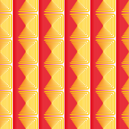 psychic: Red yellow sguare geometric seamless pattern . Fashion modern design. Stylish abstract graphic. Template for prints, textile, wrapping and decoration, wallpaper. illustration