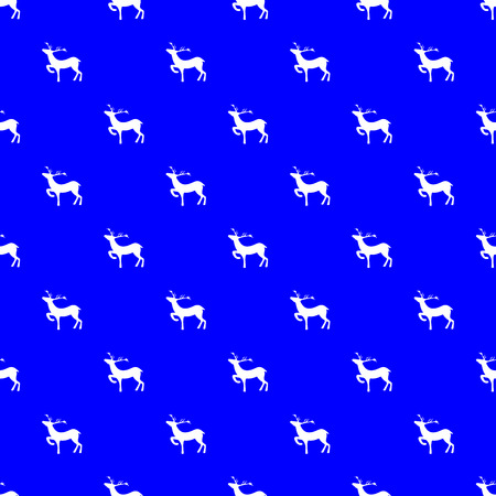 White deers on blue background. Fashion graphic design. Modern stylish abstract texture. Template for prints, textile, wrapping and decoration, wallpaper.