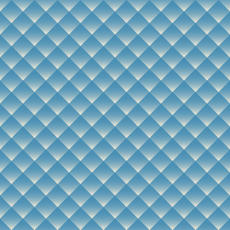 Blue white rhombus with gradient geometric seamless pattern . Fashion and bright graphic. Background design. Template for prints, textile, wrapping and decoration, wallpaper Vector illustration Illustration