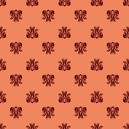 Red flower abstract seamless pattern.