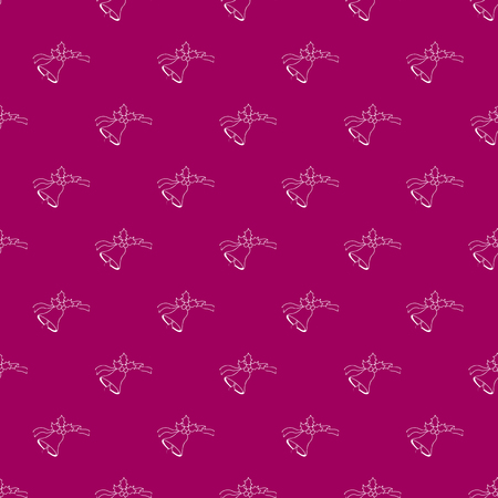 apartment bell: Contour of white bells on pink background. Fashion graphic design.