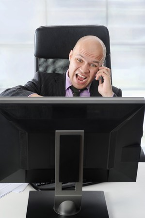 businessman in the office talking on the phone. Stock Photo - 7227764
