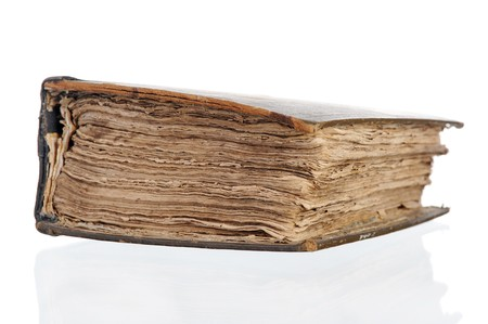 old thick book. Isolated on white background photo
