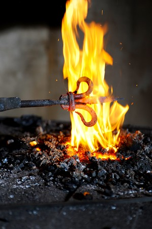 Forging product is heated in the furnace Stock Photo - 7545748