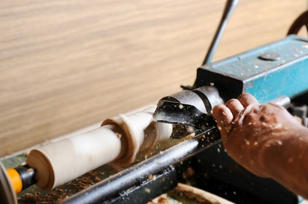 Making a master wood elements on the lathe Stock Photo - 7572021