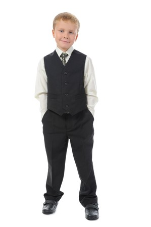 Boy in the fashionable suit. Isolated on white background Stock Photo - 7701476