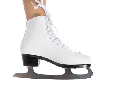 image of figure skate. Isolated on white background photo