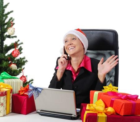 Secretary of Santa Claus. Isolated on white background Stock Photo - 7799295
