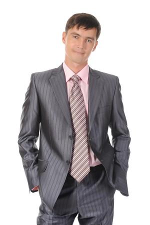 businessman. Isolated on white background photo