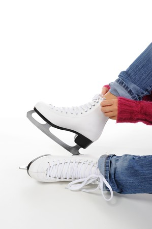 image of figure skate. Isolated on white photo