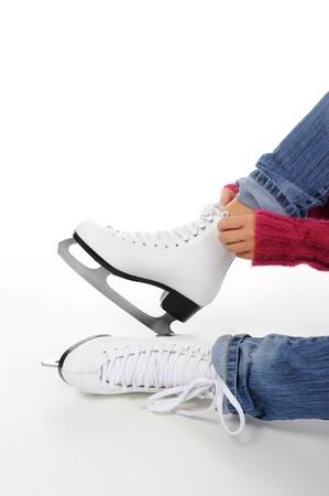 figure skate: imagen de la figura de skate. Aislados en blanco