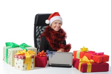Secretary of Santa Claus. Isolated on white background Stock Photo - 7890732