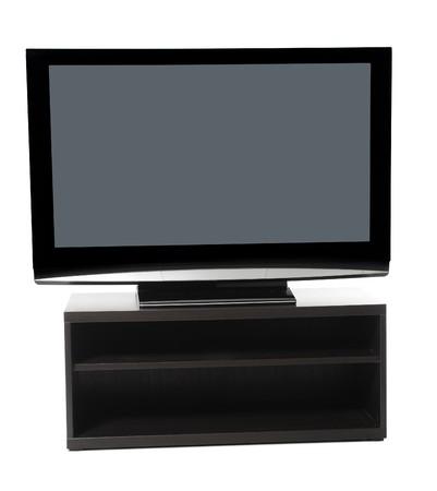 image plasma lcd tv. Isolated on white background photo