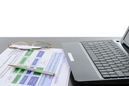 Image of businessmans hand ready to make signature. Isolated on white background photo