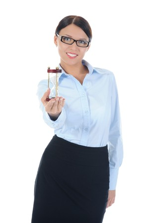 Portrait of a young businesswoman. . Isolated on white background Stock Photo - 8061665