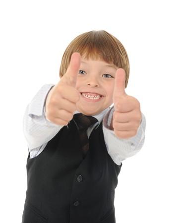 Funny little boy. Isolated on white background Stock Photo - 8133718