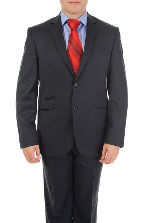 businessman in a black suit. Isolated on white background Stock Photo - 8181868