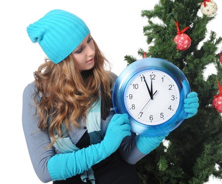 blue gloves: Christmas Time