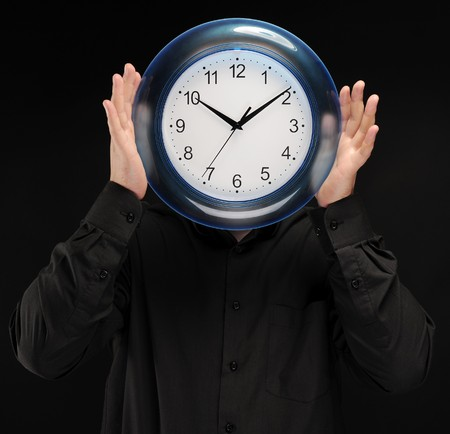 man holds hours Stock Photo - 8181981