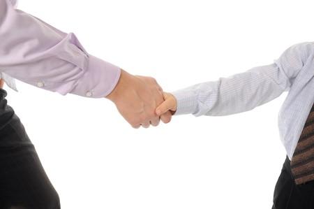 Handshake man and boy Stock Photo - 8181984