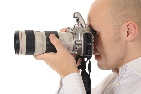 man holds a camera Stock Photo - 8182002