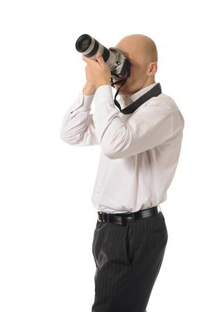 man holds a camera Stock Photo - 8181963