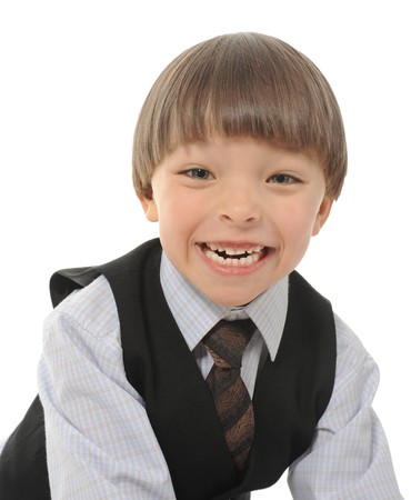 Funny little boy photo