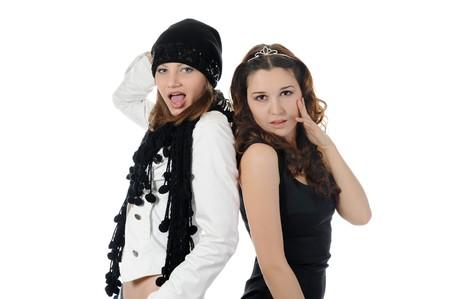 Young woman dancing hip-hop photo