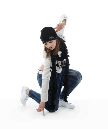 Young woman dancing hip-hop Stock Photo - 8181959