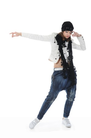 Young woman dancing hip-hop Stock Photo - 8181967