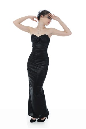 woman in evening gown Stock Photo - 8181954