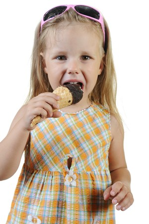 child eating ice cream. photo