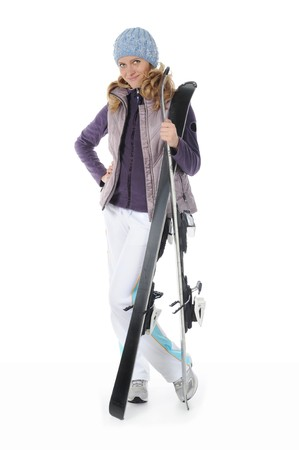 sport wear: Happy Skier