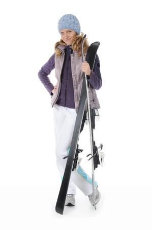 sport wear: Skier feliz