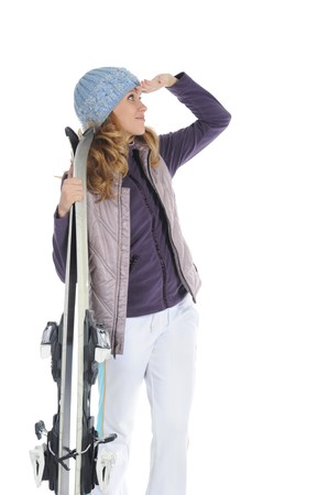 Happy Skier Stock Photo - 8182041