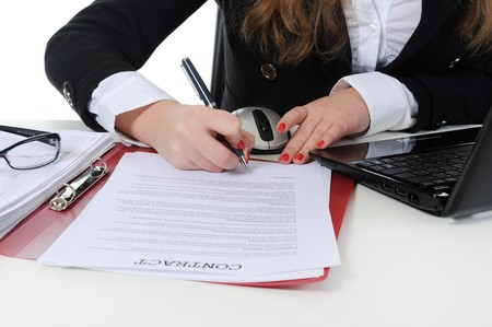 Signature of the contract photo