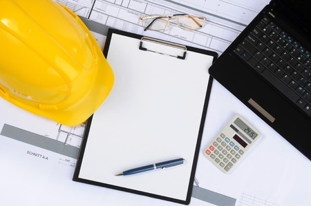 architect tools: clipboard  Stock Photo