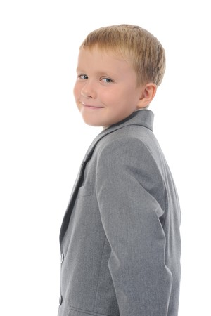 Boy in a business suit Stock Photo - 8182142